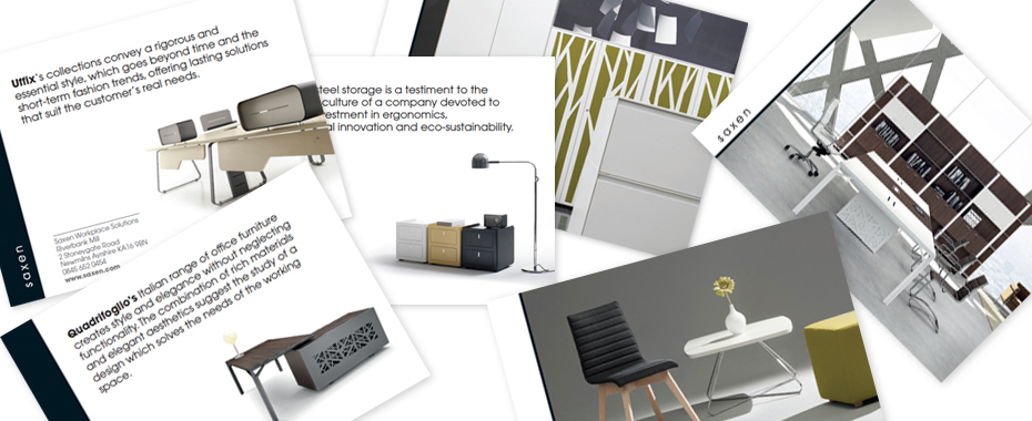 about design saxen office furniture website design brochure design